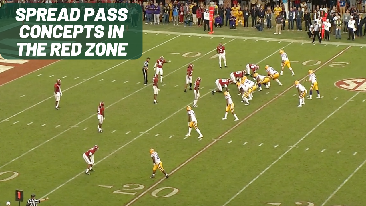 spread pass concepts in the red zone