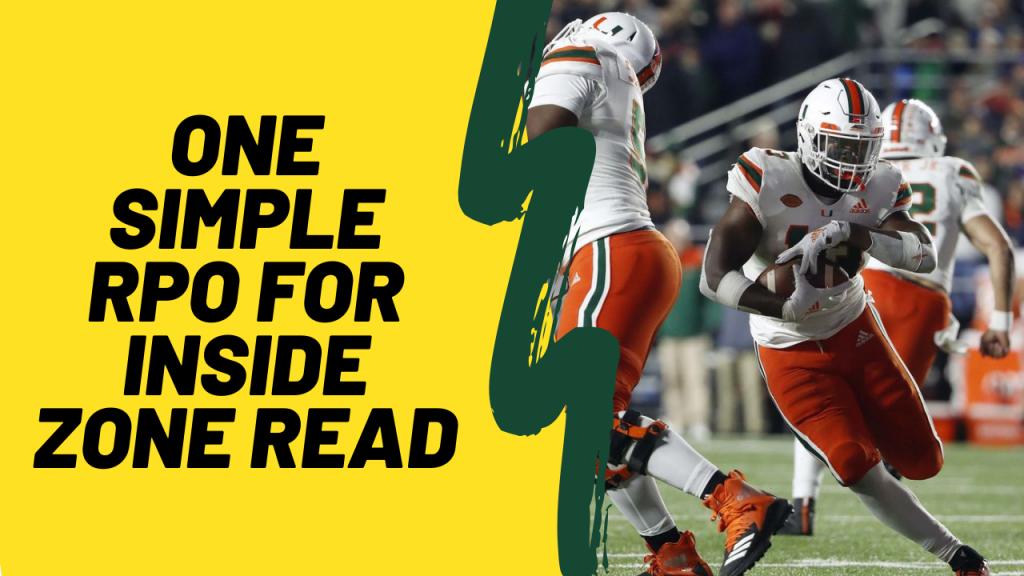 one simple RPO for inside zone read